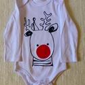 Karácsonyi body,póló , Ruha, divat, cipő, Gyerekruha, Festett tárgyak, Varrás, Karácsonyi body/póló rendelhető.  Készleten lévő body és póló színekről kérlek érdeklődj üzenetben...., Meska