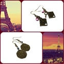 Romantikus Párizsi páros - 2 pár fülbevaló csodás, romantikus fülbevaló, Ékszer, Fülbevaló, Csomagban vihető fülbevaló válogatást készítettem a romantikus ékszereket kedvelő lányok s..., Meska