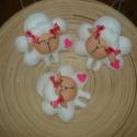 Húsvéti bárányok, Dekoráció, Húsvéti díszek, Baba-mama-gyerek, Filc anyagból  helyes bárányokat készítettem húsvétra vagy csak úgy. (3db/csomag, 500 Ft/db) A posta..., Meska