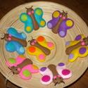 Filc pillangók, Baba-mama-gyerek, Egy kedves vásárló megrendelésére, aprólékos kézi varrással készült 7 db filc pillangó. ..., Meska