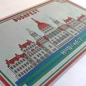 Budapesti emlék - keresztszemes készlet, Magyar motívumokkal, Dekoráció, Saját tervezésű keresztszemes minta készletben!  Egyszerűen elkészíthető de látványos mint..., Meska