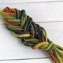 Ősz színekben gyapjú raszta szett, Táska, Divat & Szépség, Szépség(ápolás), Ősz színű színátmenetes merinó gyapjúból nemezelés technikával készítettem ezt a szettet.  Díszítése..., Meska
