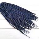 Kék lila gyapjú raszta szett, Univerzum, téli, tengeri felfonható 30 duplaszálas műraszta, Táska, Divat & Szépség, Ruha, divat, Hajbavaló, Multicolor extra finom merinó gyapjúból nemezelés technikával készítettem ezt a szettet.  Díszítése:..., Meska