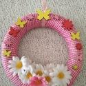 Virágos ajtódísz - tavasz, nyár, ajándéktárgy, A képeken látható virágos ajtódísz remekül ...