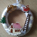 Apró karácsonyi ajtódísz - karácsony, tél, ajtódísz, kopogtató , A képeken látható karácsonyi motívumokkal dí...