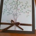 Egybefonódó fák,esküvői meghívó, Esküvő, Meghívó, ültetőkártya, köszönőajándék, Festészet, Mindenmás, A meghívót saját esküvőnkre készítettem,a motívumot természet szeretünk ihlette.A vers szintén sajá..., Meska