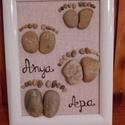 Családi lábnyom, Dekoráció, Otthon, lakberendezés, Kép, Falikép, Mindenmás, A család minden tagjának láblenyomata,jelképesen:) Megvásárlás esetén ráírom a gyerekek nevét(mint ..., Meska