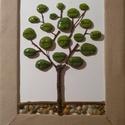 Házasság fa, élet fa, Esküvő, Mindenmás, Otthon, lakberendezés, Nászajándék, Famegmunkálás, Mindenmás, Kavicsokból és faágakból alkotott fa, melynek levelein olyan  szavak,dolgok szerepelnek,amelyek ele..., Meska