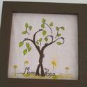 Család fa, Dekoráció, Otthon, lakberendezés, Falikép, Festett tárgyak, A képet a férjem szüleinek 40. házassági évfordulójára készítettem. Ahol az összefonódó fák jelzik ..., Meska