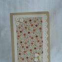 bézs színű üdvözlő képeslap, Naptár, képeslap, album, Képeslap, levélpapír, Papírművészet, Akár névnapra, akár születésnapra, vagy 'csak úgy' adható 10,5 cm x 15 cm-es képeslap. Bézs színű a..., Meska