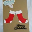karácsonyi képeslap, Naptár, képeslap, album, Képeslap, levélpapír, Papírművészet, 10,5 cm x 15 cm-es alapkartonra, többféle karácsonyi szimbólum felhasználásával készített képeslap...., Meska