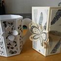 papír bögre, Dekoráció, Dísz, A papír bögre bármilyen ajándék (pl. apró csokoládék, cukorkák) tárolására, átadására..., Meska