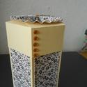Hatszögletű doboz, Dekoráció, Dísz, Papírművészet, A dobozok mérete eltérő. Az alapkartonból, scrapbook papír borítással készült dobozok fedéllel nyíl..., Meska