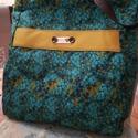 """""""Ősz"""" női táska, válltáska, Táska, Válltáska, oldaltáska, A táska mérete: 38 cm magas, lenn 41 cm, fenn 36 cm széles.  Kivitel: hátul egy cipzáros belső zsebb..., Meska"""