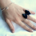 és jönnek a masnik! fekete masnis gyűrű , Ékszer, óra, Gyűrű, Sok-sok masnis alkotásom van folyamatosan töltöm fel őket.   Újakat, különlegeseket készítettem. Fig..., Meska