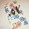 biciklis evőeszköz tartó , Konyhafelszerelés, Biciklis evőeszköztartó, nem csak bicikliseknek.  Készítettem néhány evőeszköz tartót 100% pamutvász..., Meska