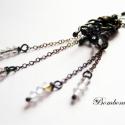 Semplice Moda- Liánok fogságában, Swarovski kristályok kézzel formázott fekete ez...