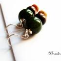 Istanbul, 12mm-es zöld onyx gyöngy, fa és őszi jáspis g...