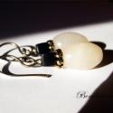 Fehér, Opalite, fekete onyx kockával és ezüsttel. Hoss...