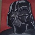 Dart Vader , Képzőművészet, Férfiaknak, Festmény, Akril, 20 *20 cm akril festmény vásznon., Meska