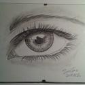 Szem a lélek tükre, Képzőművészet, Otthon, lakberendezés, Grafika, Falikép, 21 x 15 cm grafika papírlapon a szemről., Meska