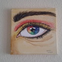 Szem , Képzőművészet, Napi festmény, kép, Festmény, Akril, 20 *20 cm akril kép festő vásznon., Meska