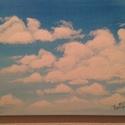 Felhők, Képzőművészet, Dekoráció, Festmény, Akril, 30*40 cm akril kép feszített vásznon., Meska