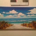 Tengerpart, Képzőművészet, Dekoráció, Festmény, Akril, 25*58 cm akril képem feszített vásznon., Meska