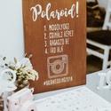 Esküvői tábla, fa tábla, fotó tábla, hashtag, #, E S K Ü V Ő I D E K O R Á C I Ó S T Á B L A  ...