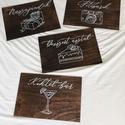 Esküvői tábla, fa tábla, vendégkönyv, fotósarok, desszert, koktél, fotó, nászajándék, tábla, E S K Ü V Ő I D E K O R Á C I Ó S T Á B L A  ...