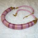 Mályva, barna, rózsaszín Twist fonal nyaklánc, Ékszer, Nyaklánc, AKCIÓ!!! 10.000 Ft feletti vásárlás esetén nincs postaköltség!   Különleges színvilágú f..., Meska