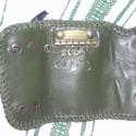 Kulcstartó, Mindenmás, Kulcstartó, Zöld színű kecskebőrből készült karabineres kulcstartó, mely 6 karabinert foglal magába.  Patenttal ..., Meska