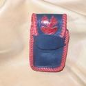Fekete-piros cigarettatartó, Táska, Pénztárca, tok, tárca, Borjúbőr és kecskebőr felhasználásával készült cigarettatartó.  A fedelét piros kecskebőrből készült..., Meska