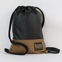 Leather Brown Borger Hátizsák, Táska & Tok, Hátizsák, Gymbag, Hímzés, Varrás, Stílusos táska a hétköznapi használatra tervezve. Kényelmesen elfér minden dolgod, amit isko..., Meska