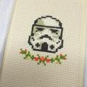 Stormtrooper,rohamosztagos Star Wars  - keresztszemes hímzett kép, Dekoráció, Otthon, lakberendezés, Kép, Falikép, -kereszthímzéssel készült kép -mérete 10x15 cm -kerettel nélkül küldöm  Remek lakásdekor vagy kedves..., Meska