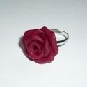 KIÁRUSÍTÁS! Bordó rózsa gyűrű, Ékszer, Gyűrű, KIÁRUSÍTÁS! Most 30%-kal olcsóbban vásárolhatod meg ezt a terméket.  A feltüntetett ár már tartalmaz..., Meska