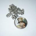 A Kalapos - kerek medálos ezüst AiW nyaklánc, Ékszer, Nyaklánc, A kisebb méretű, egyszerű, ezüst színű medálok kedvelőinek ajánlom ezt az Alice-láncomat. :)  Egy na..., Meska