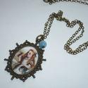 Igyál meg! - ovális medálos réz AiW nyaklánc, Ékszer, Nyaklánc, A kisebb méretű, egyszerű, réz színű medálok kedvelőinek ajánlom ezt az Alice-láncomat. :)  Egy egys..., Meska