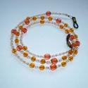 Könnyű bézs, narancs szemüveglánc (szemüveg pánt), Akrilgyöngyökből készítettem ezt a könnyű, ...