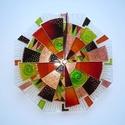Ősz - egyedi festett üvegóra, Dekoráció, Otthon, lakberendezés, Falióra, óra, Az ősz színeit használtam fel ehhez a üvegórához; nyolcszögletű óralapra festettem a mintát. Sárga, ..., Meska
