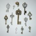 Nagy kulcs kollekció - ezüst, réz színű vintage függő (medál) gyűjtemény, Különleges kulcs medál válogatás!!!  Szép ez...