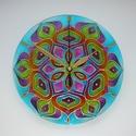 Vadvirág - egyedi festett mandala üveg falióra, Otthon & lakás, Lakberendezés, Falióra, óra, Egy csodás természeti kép színei ihlették ezt a mandalát: mozgalmas és színes falevelek tengere...  ..., Meska