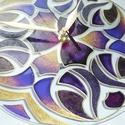 Erő - egyedi festett mandala üveg falióra, Otthon & lakás, Lakberendezés, Falióra, óra, A lila és arany igen erőteljes színek. A lazán kapcsolódó motívumok még erőteljesebbé teszik ennek a..., Meska