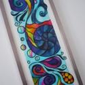 Álom - üvegfestett falikép, Otthon & lakás, Dekoráció, Lakberendezés, Falikép, Az intuitív festés jegyében alkottam meg ezt a (tőlem szokatlanul nagy) faliképet. :)  Ez a sokszínű..., Meska