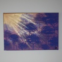 Lila erdő - egyedi akril festmény, falikép, Lila erdő napsütésben... :)  20x30cm-es feszít...