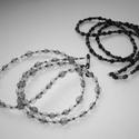 Szemüveglánc (szemüveg pánt) duo (1piros és 1zöld), Akrilgyöngyökből készült könnyű, mutatós s...
