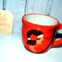 Charleston csésze, Konyhafelszerelés, Bögre, csésze, Egy hölgy portréja figyel minket erről az ici-pici kávéscsészéről. Az űrtartalma kb 0,5 dl,..., Meska