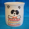 Panda párologtató, Konyhafelszerelés, Kerámia, Panda mintás, hátul lyukas párologtató, radiátorra. Mázas kerámia. Mérete: magasság: 9 cm átmérő: 8..., Meska
