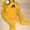 Sárga kutya:), Játék, Baba játék, Plüssállat, rongyjáték, Horgolás, Ez a kutya egy mesehős, gazdija legjobb barátja:) Kb. 10 cm magas ülve, vattával van kitömve. Babab..., Meska