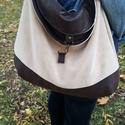 Nagy pakolós táska -Hippo Hobo Bag barna-krém színben